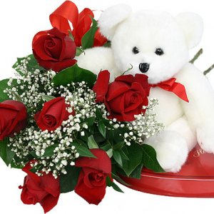 Midnight Delivery of Fresh Flowers with cake ,teddy in Ajmer