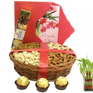 giftbag: lucky plants with dryfruits Delivery in Ajmer