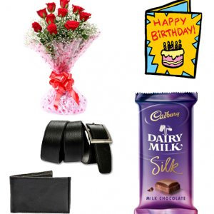 giftbag: flowers , greeting cards with chocolates Delivery in Ajmer