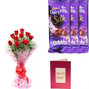 giftbag: Flowers ,cake ,greeting cards with chocolates Delivery in Ajmer