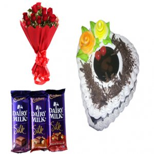 giftbag: Flowers ,cake with chocolates Delivery in Ajmer