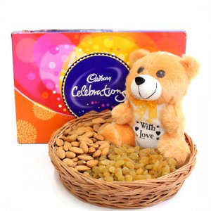 giftbag: sweets chocolate dry fruits and lucky plants Delivery in Ajmer