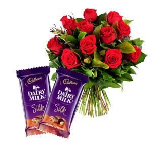 Midnight Delivery of Fresh Flowers and chocolate in Ajmer