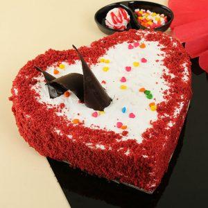Classy Velvety Heart Cake