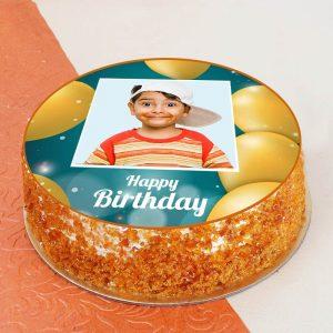 Butterscotch Classy photo Cake
