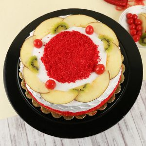 Red Velvet Fruits Cake : Giftzbag.com