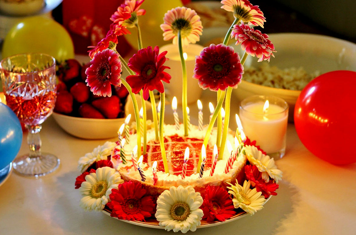 Happy Birthday Cake Flowers Pictures Flowers Healthy