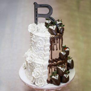 Alphabet 2 Tier Cake : giftzbag.com