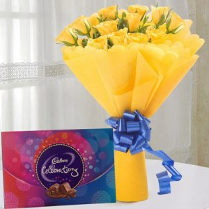 online roses flowers bouquets with chocolates delivery in India