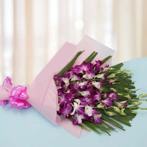 online orchid flowers bouquets delivery in India