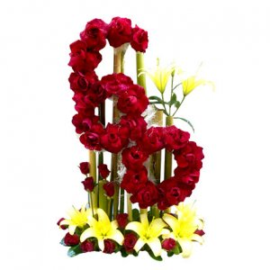numeric flowers arrangement