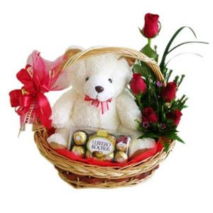 chocolate basket with flower
