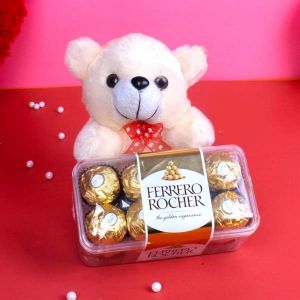 online chocolate basket with teddy