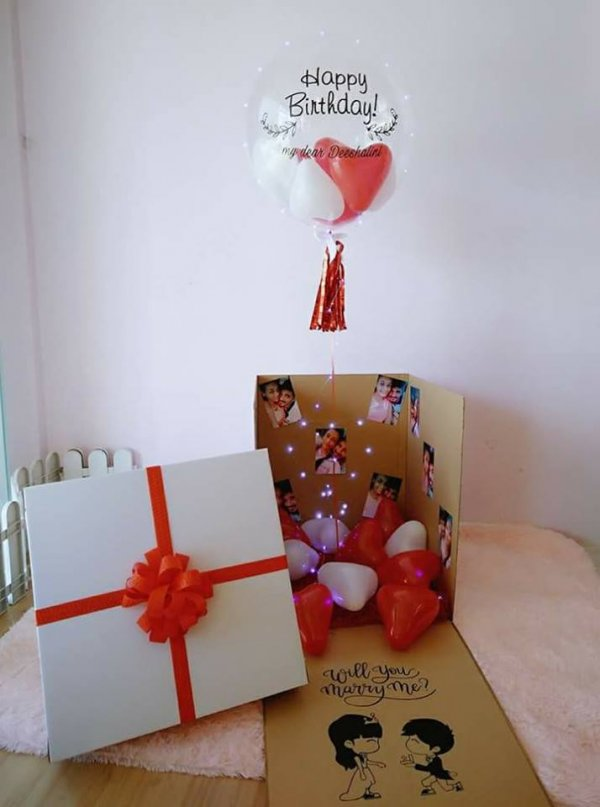 Surprise Helium Balloons Gift Box