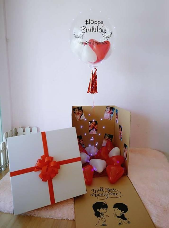 Surprise Helium Balloons Gift Box