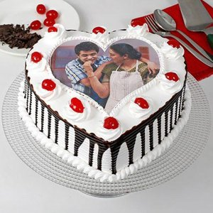 Heart-Shaped Photo Cake