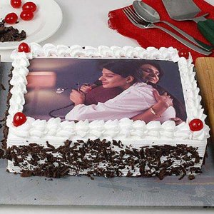 Black Forest Photo Cake with Dark Chocolate