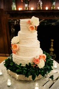 Flowers and Leaves Cake