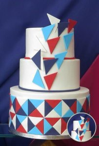 Geometric Shapes Cake