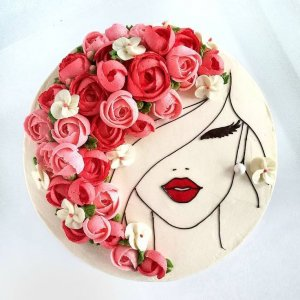 Hand-Painted Illustrations & Hand-written Notes cake