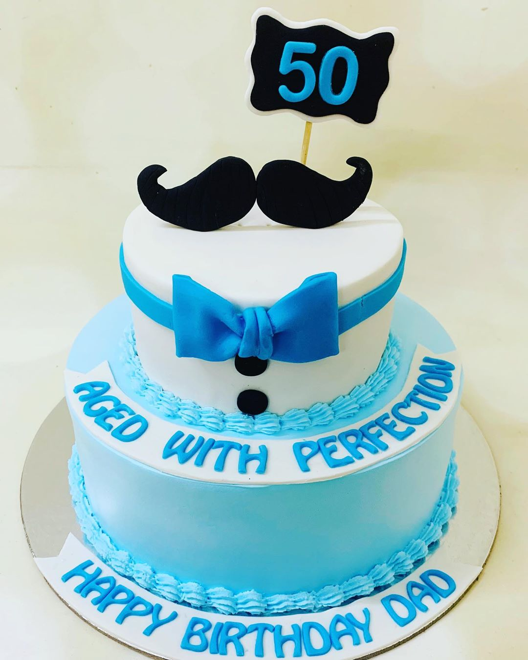 Sensational 2 Tier Fathers Birthday Cake Funny Birthday Cards Online Bapapcheapnameinfo