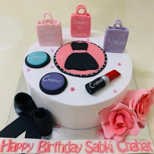 Makeup Birthday Cake