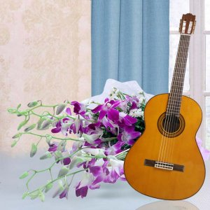 Flowers with Guitarist at Home