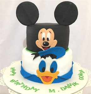 Mickey & Donald Theme Cake