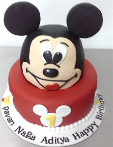 Mickey Head shape Cake