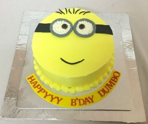 Minion cream Birthday cake