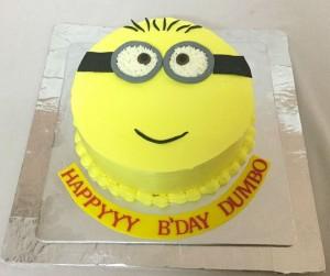 Minion cream Birthday cake