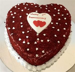 Hearts Anniversary Cake