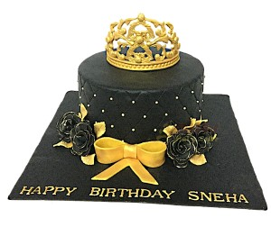 Theme Tiara Birthday Cake