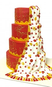 Traditional Designer Wedding Cake
