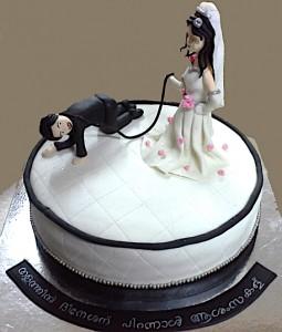 On the Leash Bachelorette Party Cake
