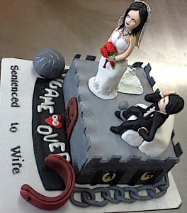Bachelorette Party Cake-Sentenced to wife