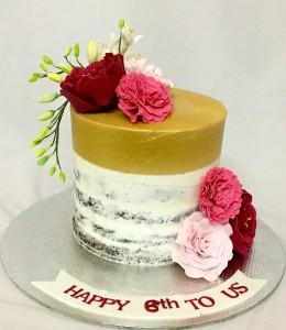Anniversary Cake Naked Butter cream Cake