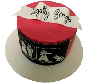 Single Again Celebration Cake