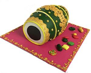 Cake- Dholki theme Cake