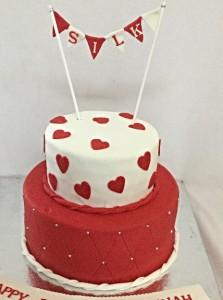 Hearts Valentine Cake