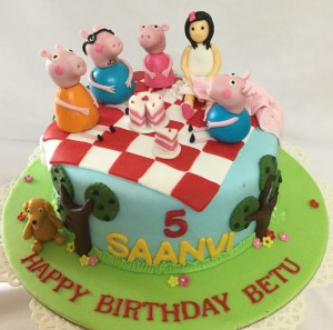5th Birthday Peppa Pig Cake