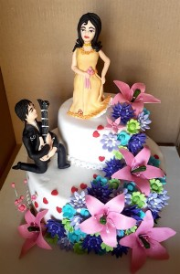 Customized Engagement Cake