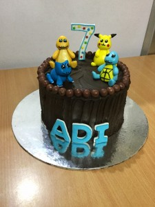 Pikachu and friends Birthday Cake