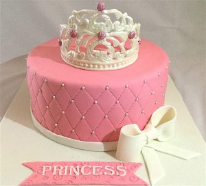 Pink Crown Designer Birthday Cake