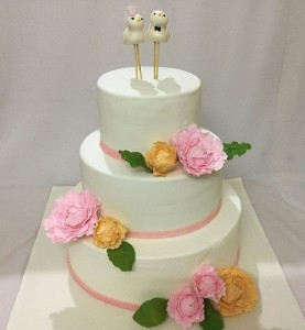 Engagement Cake- Cute love Birds theme