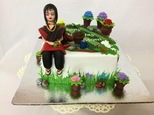 Gardening theme Birthday Cake