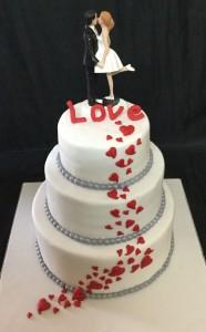 My Love Hearts Valentines Cake