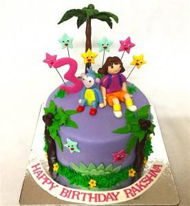DORA Theme Birthday Cake