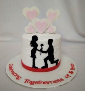 Valentine Togetherness Cake