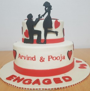 Celebrated Engagement Theme Cake
